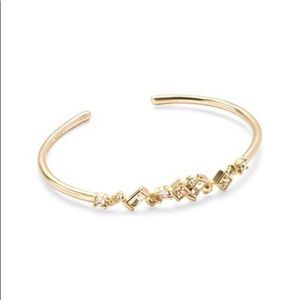 Kendra Scott Norah slim cuff bracelet gold